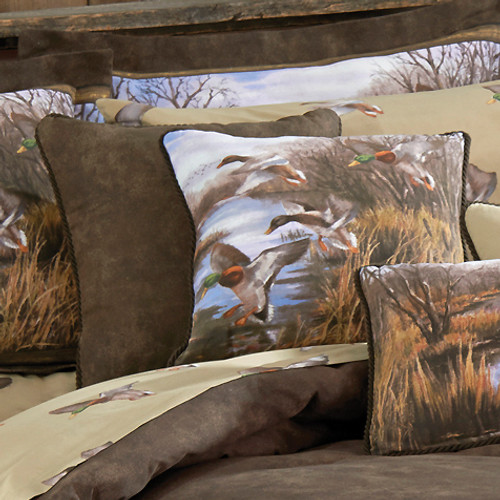 Duck Approach Square Accent Pillow