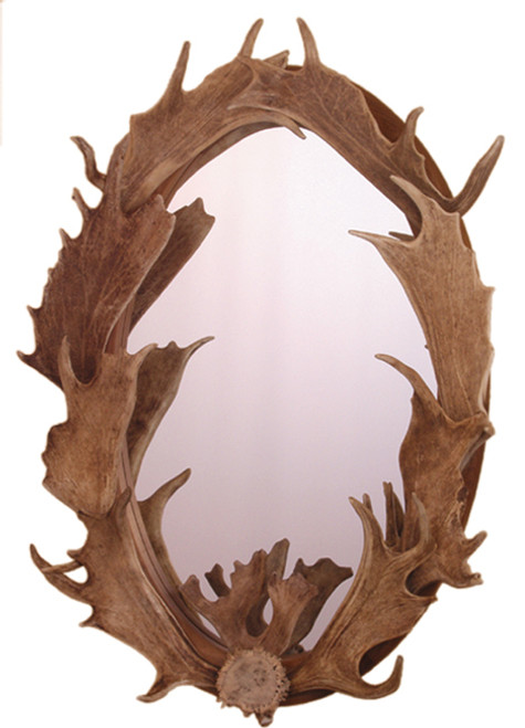 Large Fallow Mirror (Authentic Antlers)