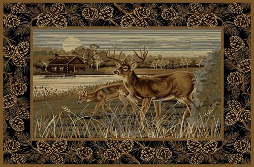 Lakeside Deer Rug - 8 x 10
