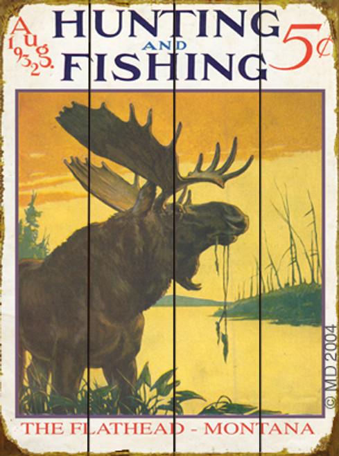 Hunting & Fishing Moose Sign