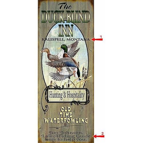 Duck Blind Inn Sign - 17 x 44