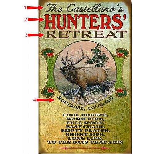 Elk Hunters Sign - 14 x 24