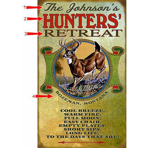 Deer Hunters Sign - 14 x 24