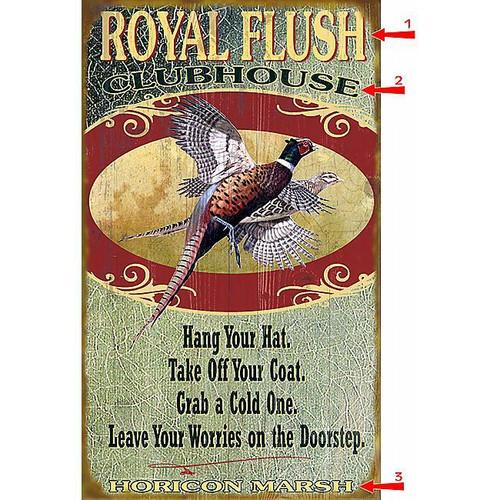 Royal Flush Sign - 14 x 36