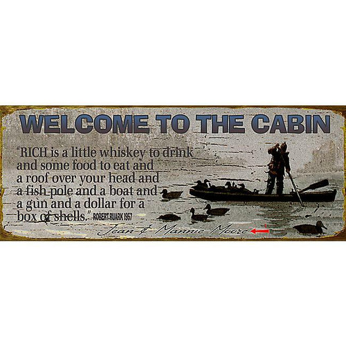 Welcome Cabin Sign - 14 x 36
