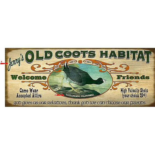Old Coot Sign - 14 x 36