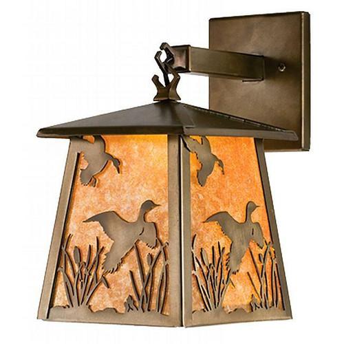 Ducks in Flight Lantern Wall Sconce