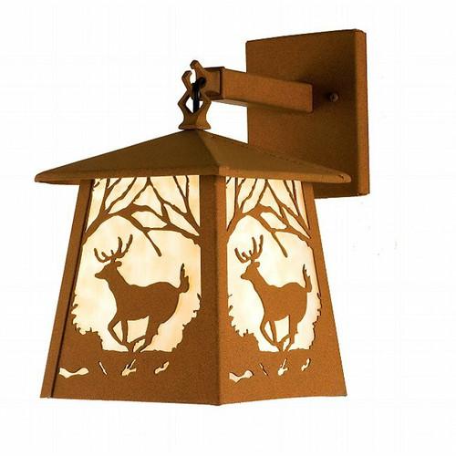 Deer at Dusk Lantern Wall Sconce