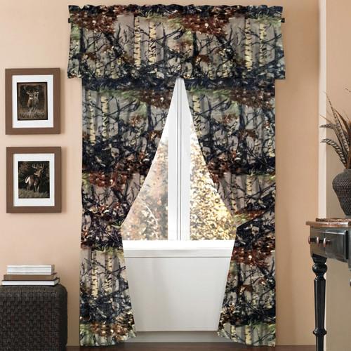 Natural Woodland Camouflage Curtain Set - BACKORDERED UNTIL 11/12/2021