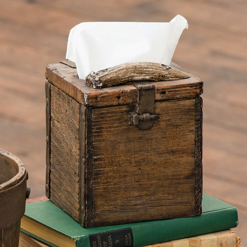 Old Crate Tissue Box