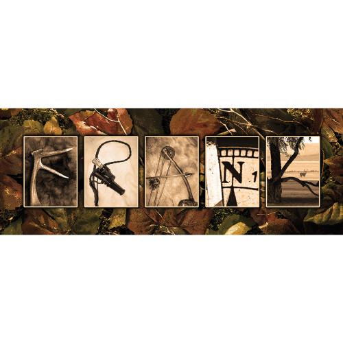 Personalized Hunter's Paradise Wall Art - Block Mount