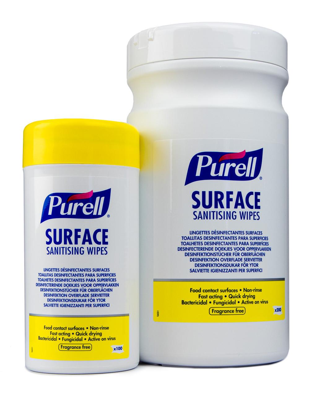 Znalezione obrazy dla zapytania: purell surface sanitising wipes 200