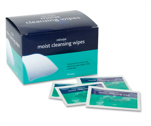 Reliwipe Moist Cleansing Wipes, box of 100 | Wound Wipes | Physical Sports First AId