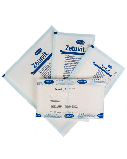 Zetuvit E Sterile Trauma Dressings | Group Shot | Physical Sports First Aid