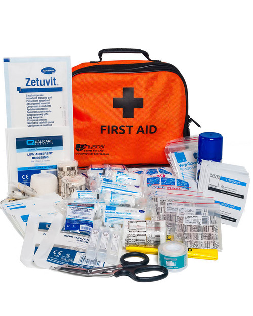 Advanced Sports First Aid Kit | Orange Bag and Contents | Physical Sports First Aid