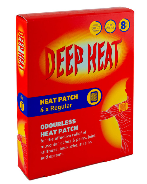 Deep Heat Patches   Box of 4   Physical Sports First AId