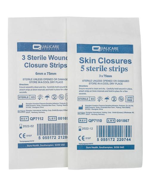 Wound Closures (Non-Stitch Sutures) | Sterile 8 Pack | Physical Sports First Aid