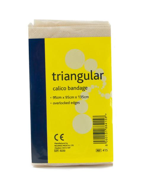 Triangular Bandage, Calico, Hemmed | Physical Sports First Aid