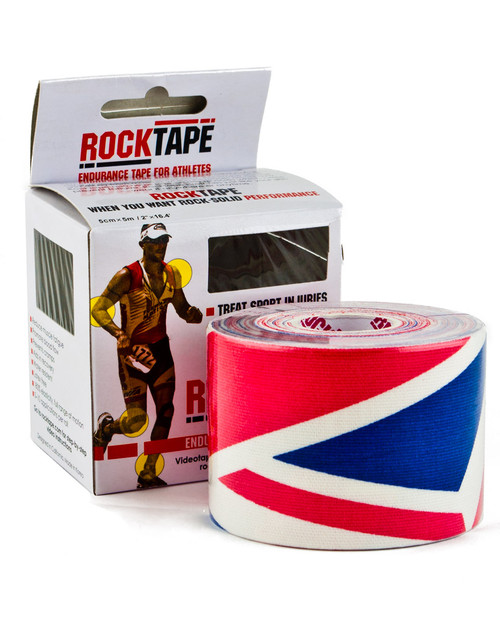 Rocktape Kinesiology Tape, Union Jack Pattern | 5cm x 5m | Physical Sports First Aid