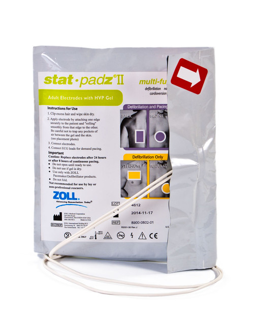ZOLL Stat Padz II |  Electrodes for ZOLL Defibrillators | Physical Sports First Aid