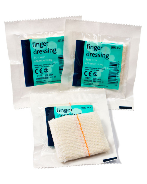 Finger Dressing | Small First Aid Dressing 5cm x 5cm | Physical Sports First Aid