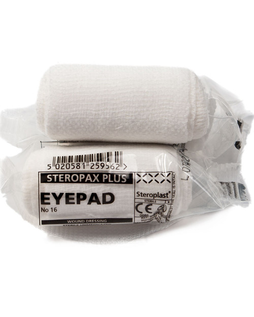 Eyepad Dressing with Bandage | Number 16 First Aid Dressing 7.5cm | Physical Sports First Aid