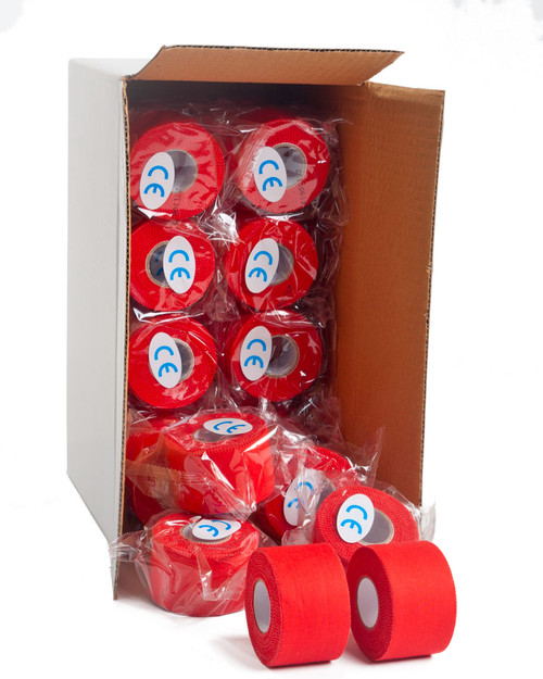 Physical Sports Tape | Coloured Zinc Oxide Tape, Case of 32 | Physical Sports First Aid