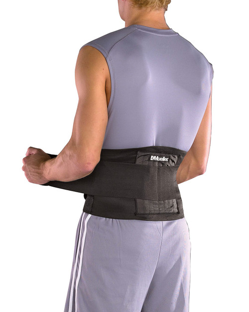 Mueller 4581 Adjustable Back Brace | Rear View | Physical Sports First Aid