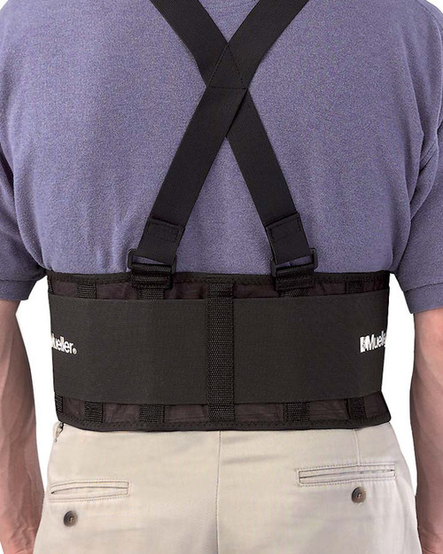 Mueller 252 Back Support with Braces   Physical Sports First Aid