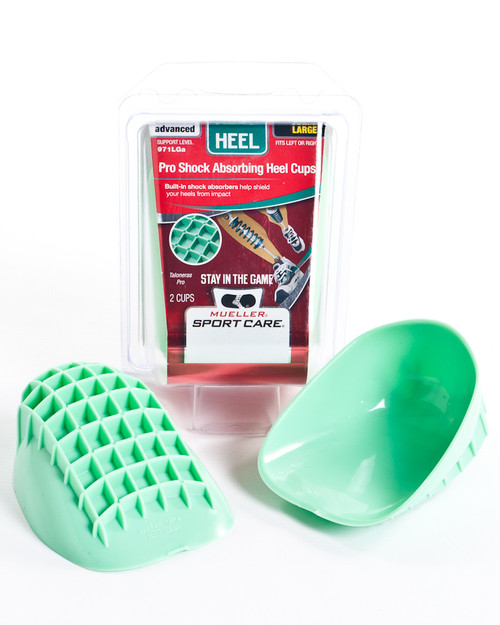 Mueller 971A Shock Absorbing Pro Heel Cups | 2 Pack | Physical Sports First Aid