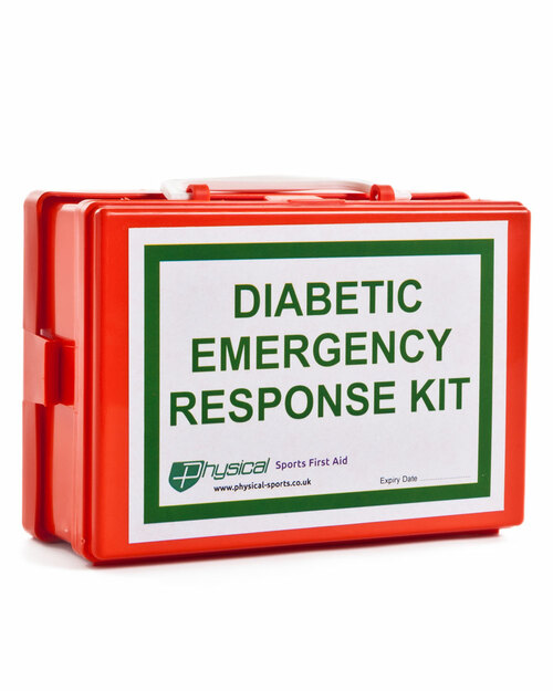 Diabetic Emergency Response Kit | Box with Label and Wall Bracket | Physical Sports First Aid