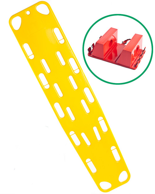 Spinal Injury Set - Spinal Board, Straps, Head Immobiliser | Physical Sports First Aid