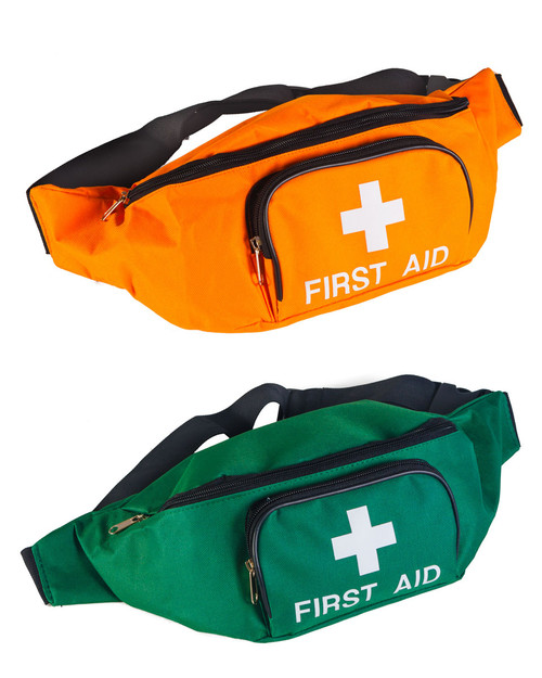 First Aid Bum Bag | Green and Orange | Physical Sports First Aid
