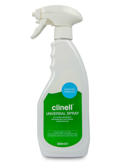 Clinell Universal Disinfectant Spray | 500ml Trigger Spray Bottle | Physical Sports First Aid