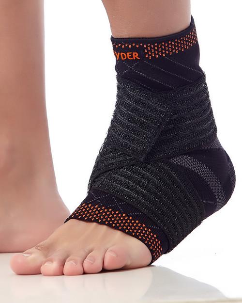 Reinforced Ankle Brace - Teyder Gold Line - Black