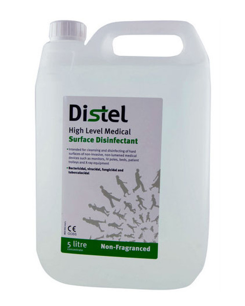 Distel Surface Disinfectant | 5L Concentrate, Non-Fragranced | Physical Sports First Aid