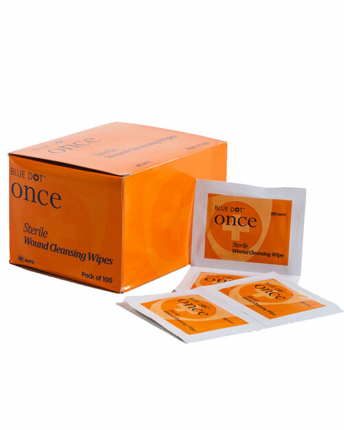 Sterile Saline Cleansing Wipes | Box of 100| Physical Sports First Aid