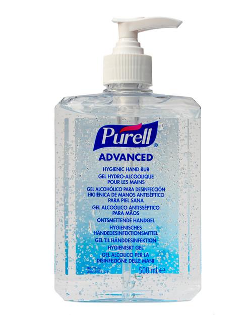 Purell Advanced Hand Hygienic Hand Rub | 500ml Pump Top Bottle | Physical Sports First Aid