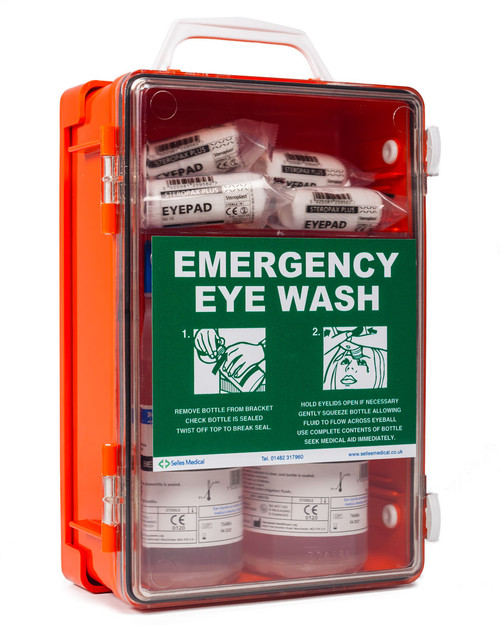 Orange Eyewash Cabinet | Physical Sports First Aid