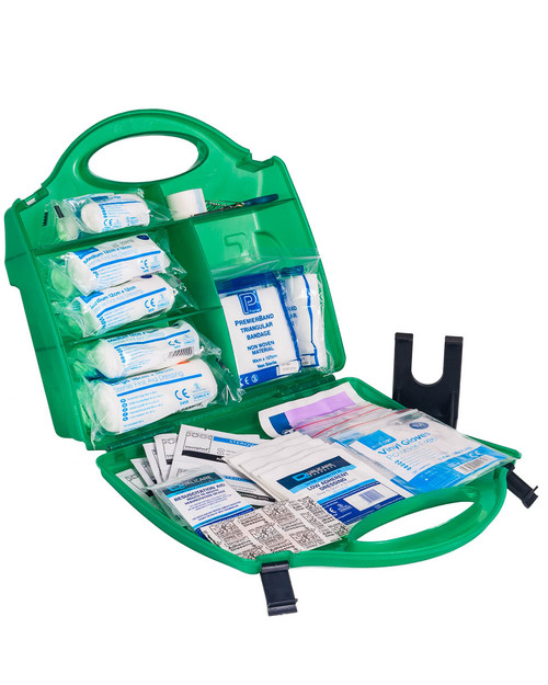 School Approved First Aid Kit | Box with Contents | Physical Sports First Aid