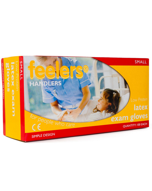 Latex Gloves, Powder-Free, Low Protein | Box of 100 | Physical Sports First Aid