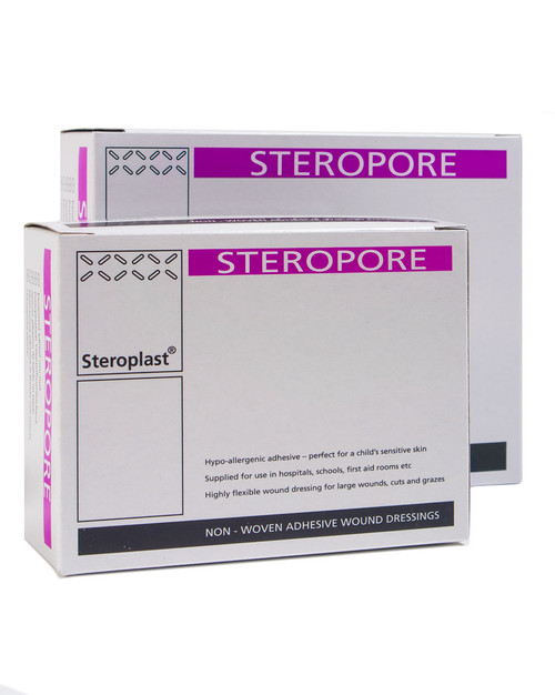 Steropore Adhesive Dressings, Box of 25 | Physical Sports First Aid