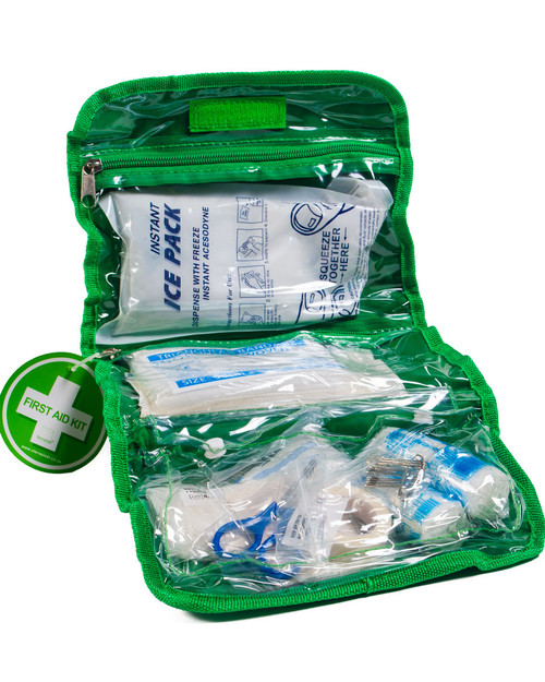 Budget First Aid Kit 40 Pieces | Bag Open | Physical Sports First Aid