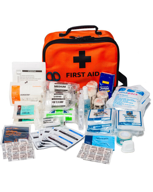 Adventure Group First Aid Kit | Showing Contents | Physical Sports First Aid