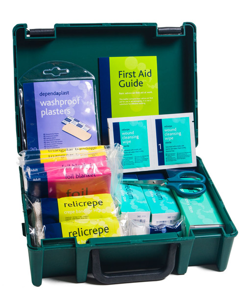 PE First Aid Kit | Open Showing Contents | Physical Sports First Aid