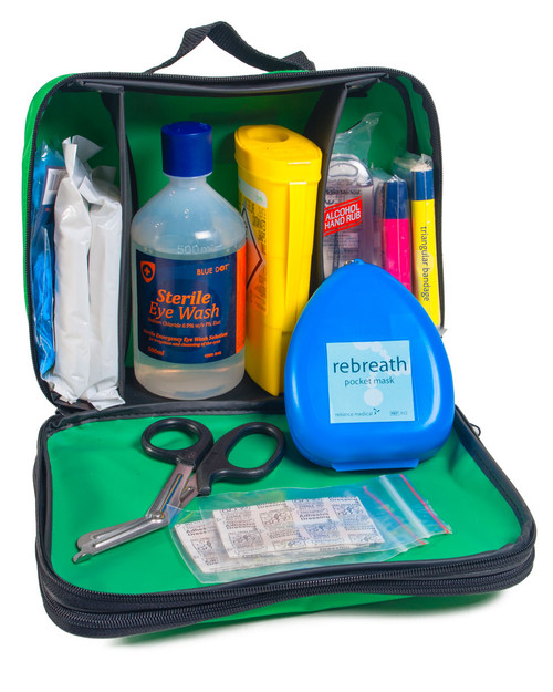 Police Operational First Aid Kit | Main Compartment with Contents | Physical Sports First Aid