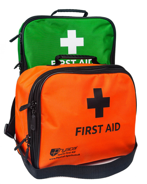 First Aid Incident Bag | Green and Orange | Physical Sports First Aid