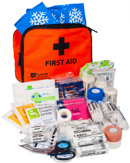 Sports First Aid Incident Kit   Showing Contents   Physical Sports First Aid