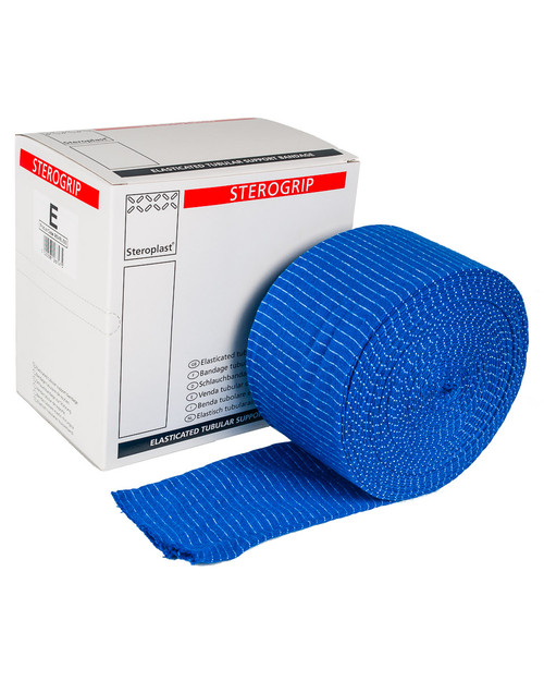Blue Sterogrip Tubular Support Bandage   Bandage with Dispenser Box   Physical Sports First Aid