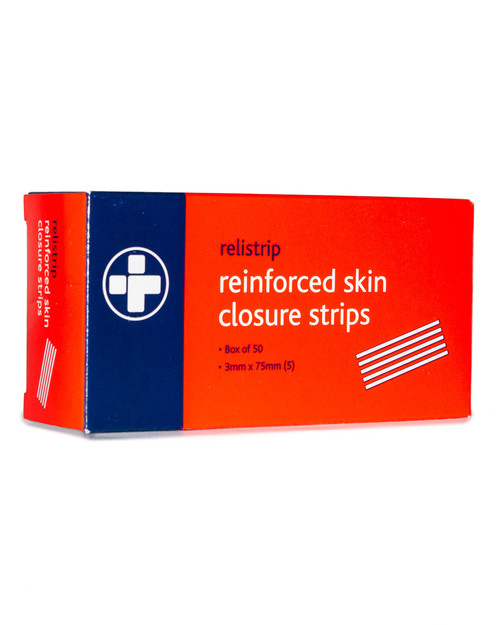 Relistrip Skin Closure Strips   3mm x 75mm, Box of 50   Physical Sports First Aid